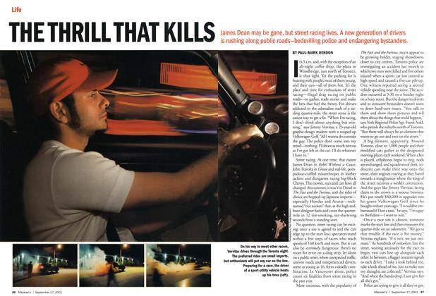 Article Preview: THE THRILL THAT KILLS, September 2001 | Maclean's
