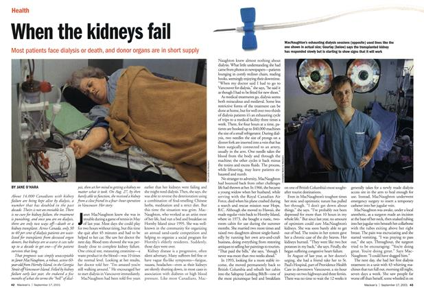 Article Preview: When the kidneys fail, September 2001 | Maclean's