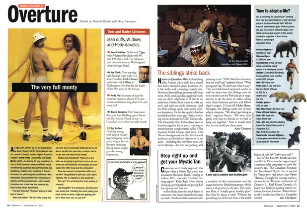 Article Preview: Step right up and get your Mystic Tan, September 2001 | Maclean's