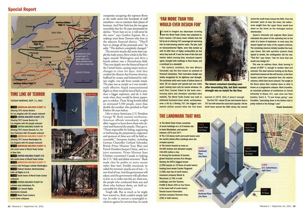 Article Preview: 'FAR MORE THAN YOU WOULD EVER DESIGN FOR', September 2001 | Maclean's