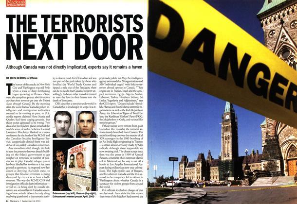 Article Preview: THE TERRORISTS NEXT DOOR, September 2001 | Maclean's
