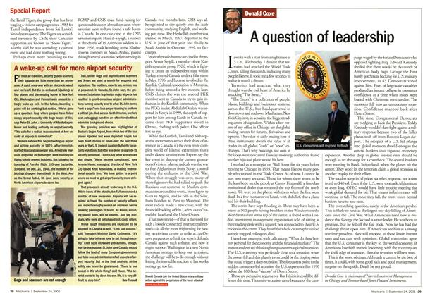 Article Preview: A question of leadership, September 2001 | Maclean's