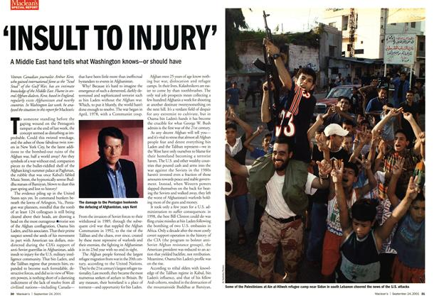 Article Preview: 'INSULT TO INJURY', September 2001 | Maclean's