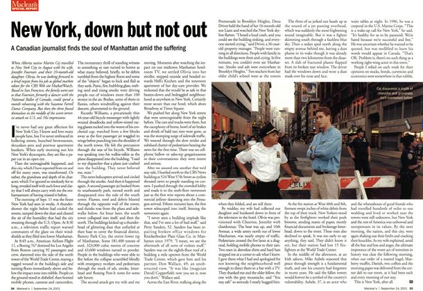 Article Preview: New York, down but not out, September 2001 | Maclean's
