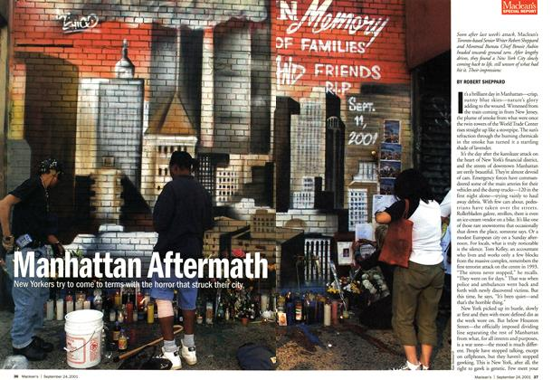 Article Preview: Manhattan Aftermath, September 2001 | Maclean's