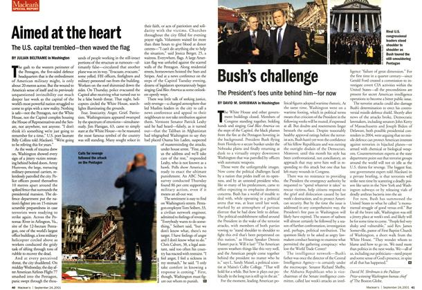Article Preview: Bush's challenge, September 2001 | Maclean's