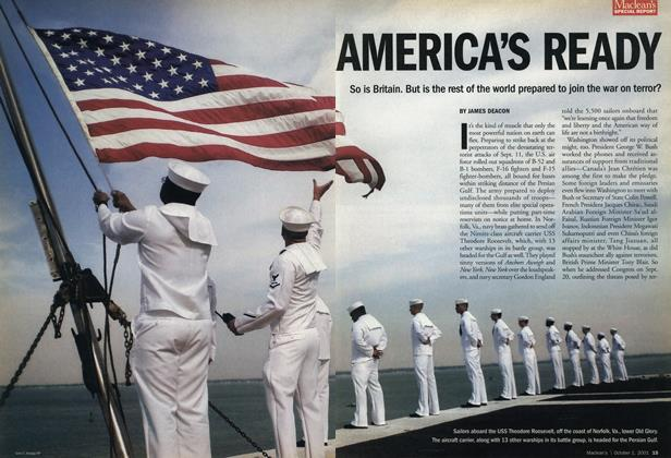 Article Preview: AMERICA'S READY, October 2001 | Maclean's