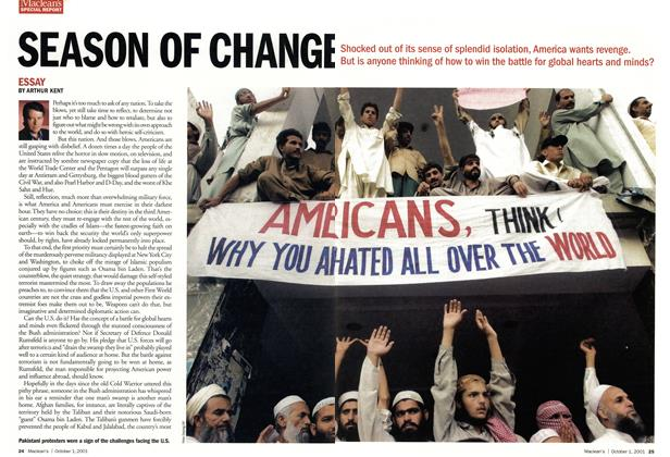 Article Preview: SEASON OF CHANGE, October 2001 | Maclean's