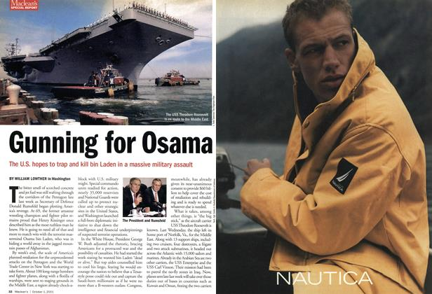 Article Preview: Gunning for Osama, October 2001 | Maclean's
