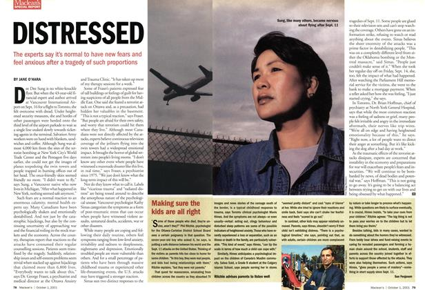 Article Preview: DISTRESSED, October 2001 | Maclean's