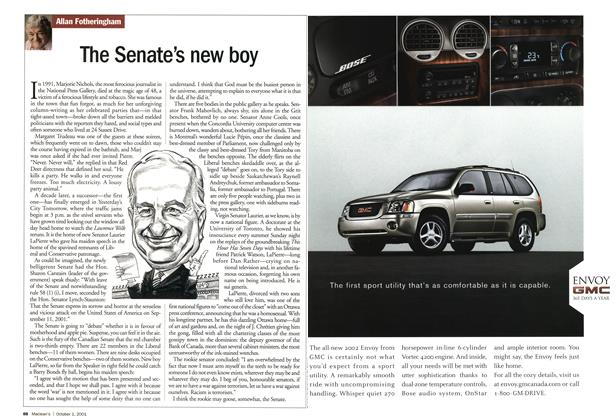 Article Preview: The Senate's new boy, October 2001 | Maclean's