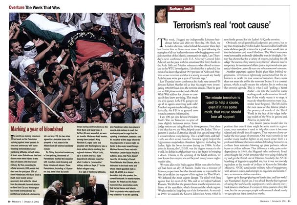Article Preview: Terrorism's real 'root cause', October 2001 | Maclean's