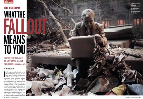 Article Preview: WHAT THE FALLOUT MEANS TO YOU, October 2001 | Maclean's