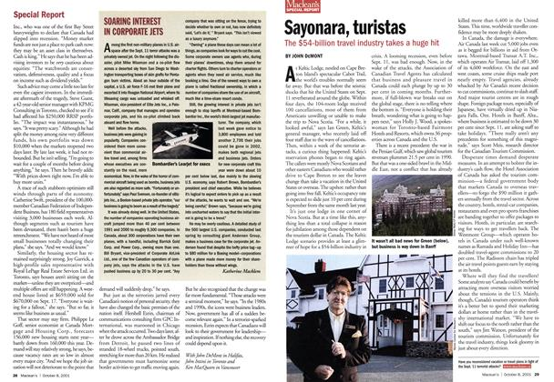 Article Preview: Sayonara, turistas, October 2001 | Maclean's