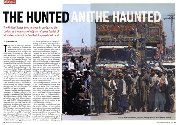 Article Preview: THE HUNTED AND THE HAUNTED, October 2001 | Maclean's