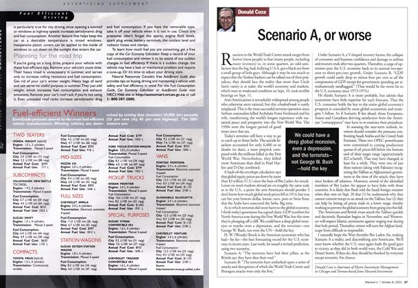 Article Preview: Scenario A, or worse, October 2001 | Maclean's