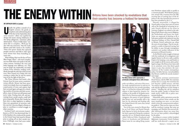 Article Preview: THE ENEMY WITHIN, October 2001 | Maclean's
