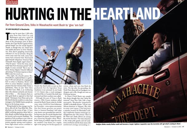 Article Preview: HURTING IN THE HEARTLAND, October 2001 | Maclean's