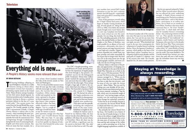 Article Preview: Everything old is new, October 2001 | Maclean's