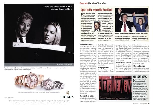 Article Preview: Overture The Week That Was, October 2001   Maclean's
