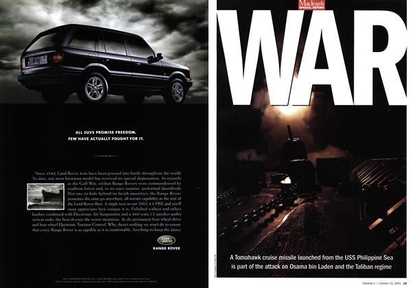 Article Preview: WAR, October 2001 | Maclean's