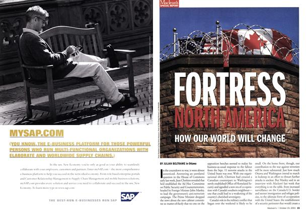Article Preview: FORTRESS NORTH AMERICA, October 2001   Maclean's