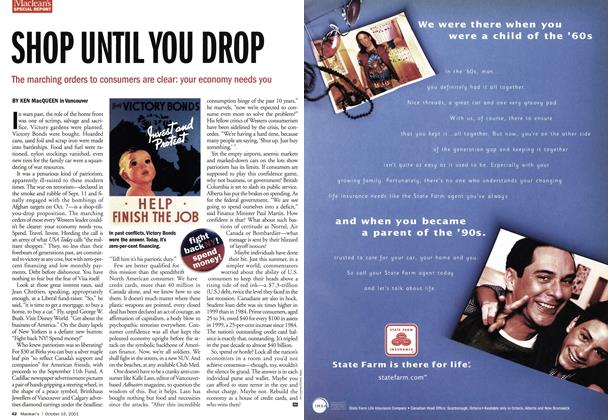 Article Preview: SHOP UNTIL YOU DROP, October 2001 | Maclean's
