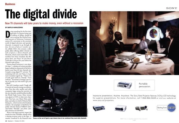 Article Preview: The digital divide, October 2001 | Maclean's