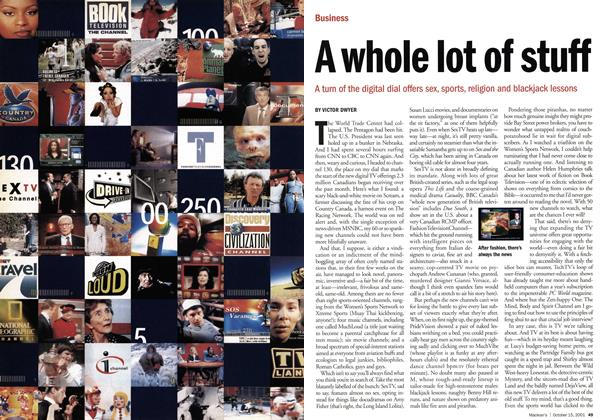 Article Preview: A whole lot of stuff, October 2001 | Maclean's