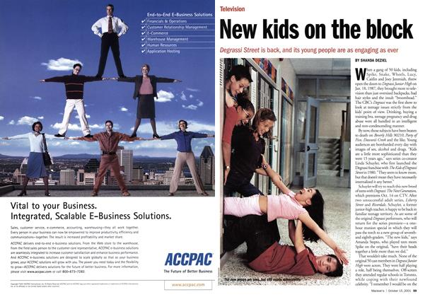 Article Preview: New kids on the block, October 2001   Maclean's