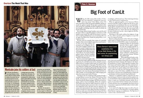 Article Preview: Big Foot of CanLit, October 2001 | Maclean's