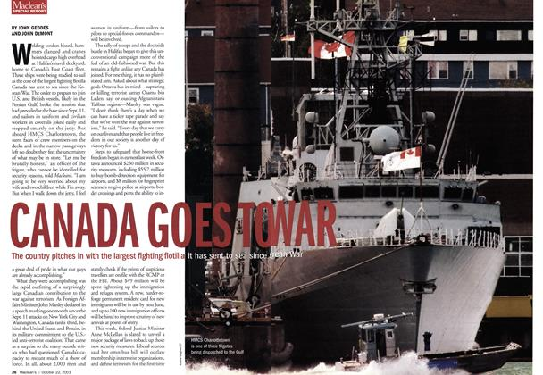 Article Preview: CANADA GOES TO WAR, October 2001 | Maclean's