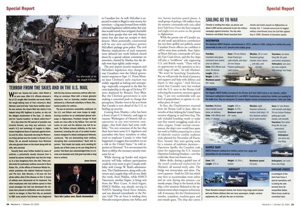 Article Preview: TERROR FROM THE SKIES AND IN THE U.S. MAIL, October 2001 | Maclean's