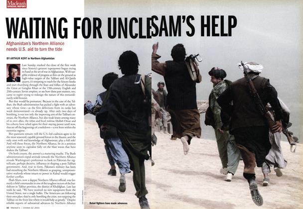 Article Preview: WAITING FOR UNCLE SAM'S HELP, October 2001 | Maclean's