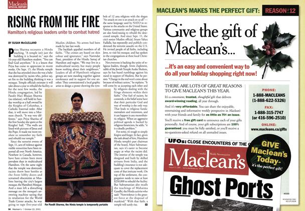Article Preview: RISING FROM THE FIRE, October 2001 | Maclean's