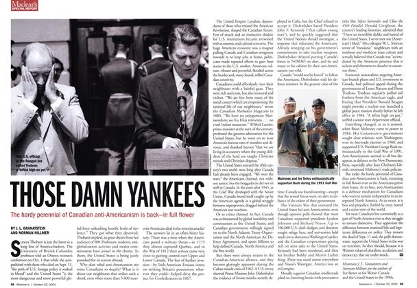 Article Preview: THOSE DAMN YANKEES, October 2001 | Maclean's