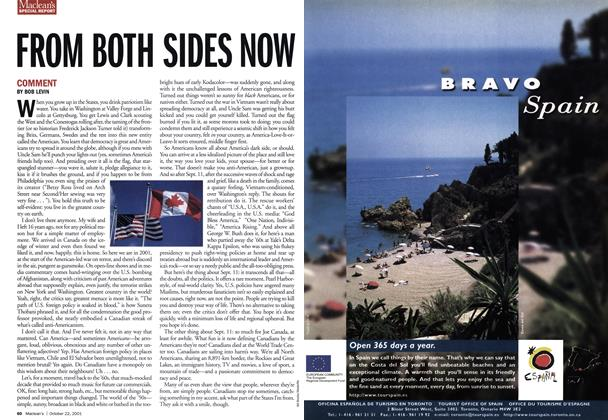Article Preview: FROM BOTH SIDES NOW, October 2001 | Maclean's