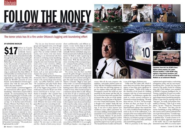 Article Preview: FOLLOW THE MONEY, October 2001 | Maclean's