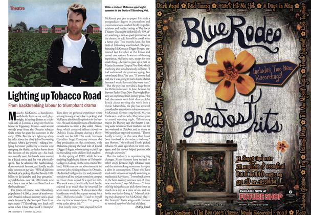 Article Preview: Lighting up Tobacco Road, October 2001 | Maclean's