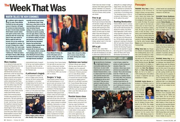 Article Preview: The Week That Was, October 2001 | Maclean's