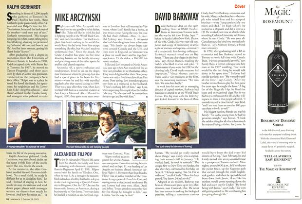 Article Preview: DAVID BARKWAY, October 2001 | Maclean's