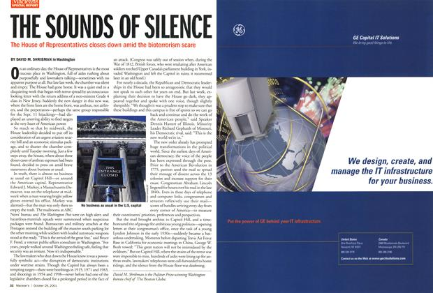 Article Preview: THE SOUNDS OF SILENCE, October 2001 | Maclean's