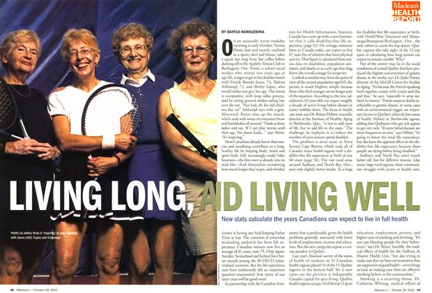 Article Preview: LIVING LONG AND LIVING WELL, October 2001 | Maclean's