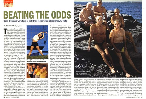 Article Preview: BEATING THE ODDS, October 2001 | Maclean's