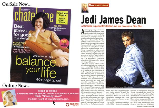 Article Preview: Jedi James Dean, October 2001 | Maclean's