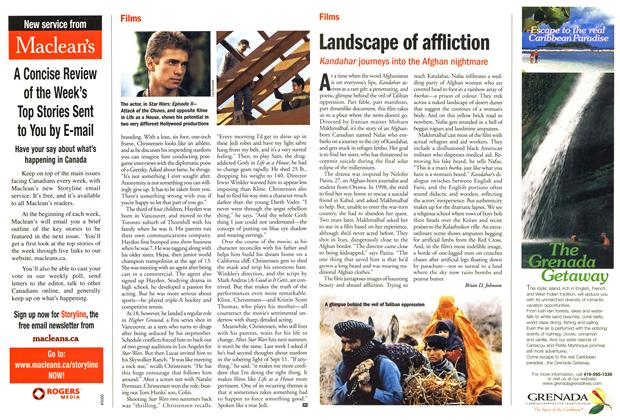 Article Preview: Landscape of affliction, October 2001 | Maclean's