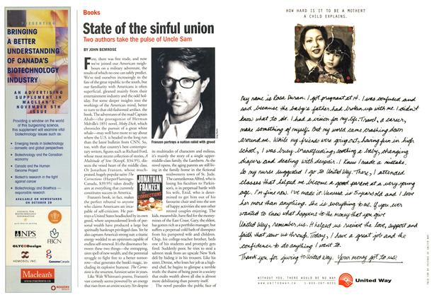Article Preview: State of the sinful union, October 2001 | Maclean's