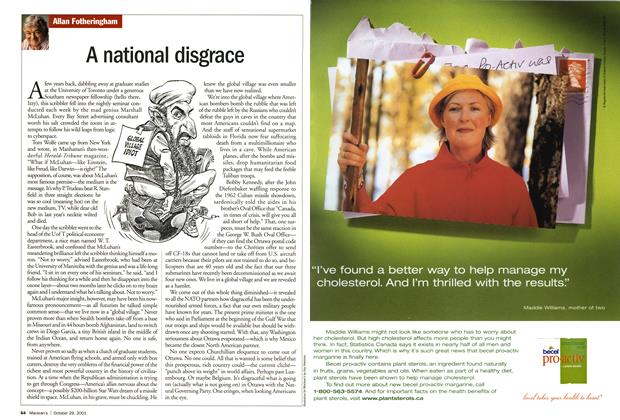 Article Preview: A national disgrace, October 2001 | Maclean's