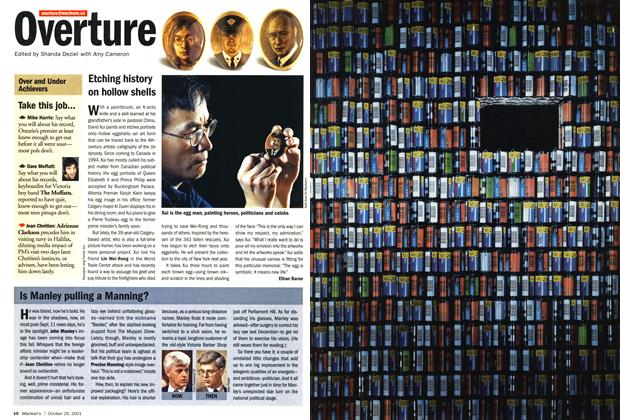 Article Preview: Overture, October 2001 | Maclean's