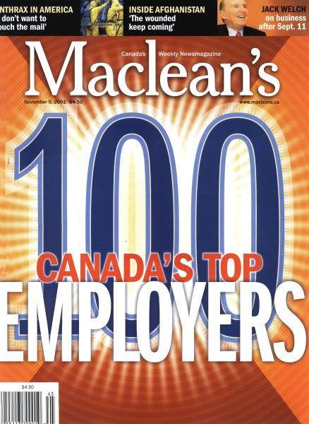Issue: - November 2001   Maclean's